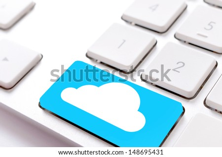 Blank cloud button on the keyboard