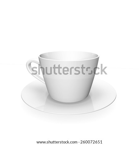 Blank Coffee Cup, isolated on white background - stock photo