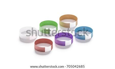 blank black white paper wristband mockup stock illustration 646230448 shutterstock. Black Bedroom Furniture Sets. Home Design Ideas