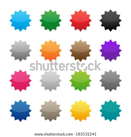 Blank colorful stickers. Vector available.