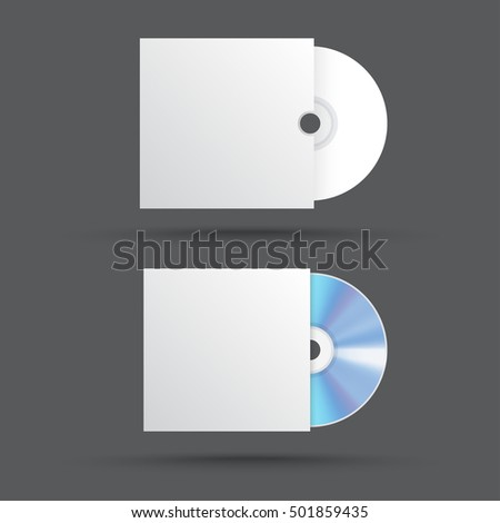 blank compact disk. cd mock up