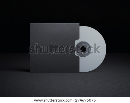 Blank compact disk cover - stock photo