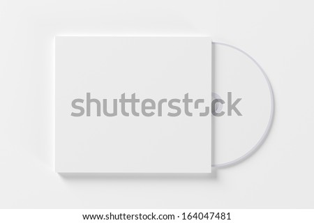 Blank compact disk isolated on white background - stock photo