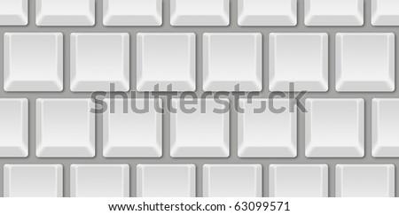 Blank Computer Keyboard - stock photo