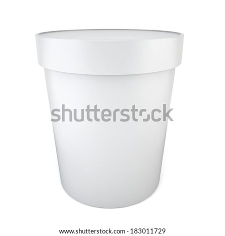 Blank container. 3d illustration on white background  - stock photo