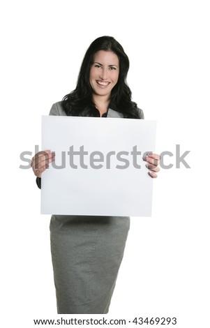 Blank copy space businesswoman copyspace white board presentation - stock photo