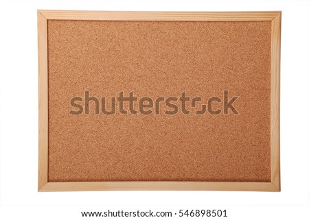 Blank cork board for your ad isolated on white background (Clipping path)