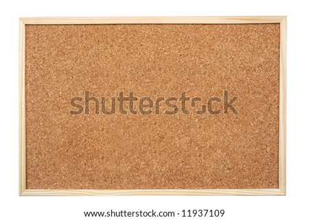 Blank corkboard  isolated on white background - stock photo