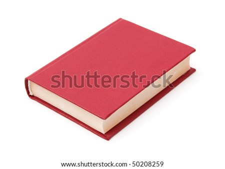 Blank cover book isolated on white background