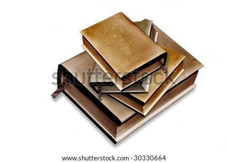Blank Cover Books Grunge - stock photo