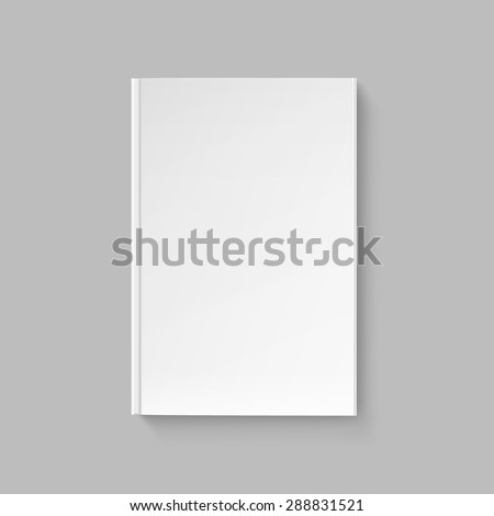Blank Cover for Book or Magazine Template Isolated