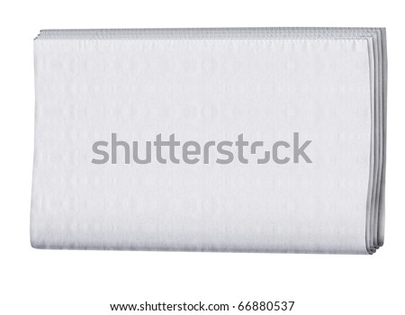 blank cover page of a folded newspaper - stock photo