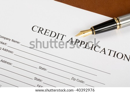 Blank Credit Application Form Pen On Photo 40392976 – Credit Application Form