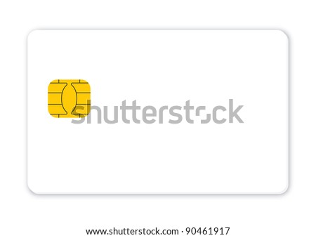 Blank credit card isolated, Vector