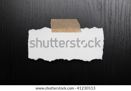 Blank crumpled paper - stock photo