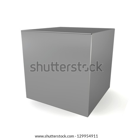 Blank cube. 3d illustration on white background
