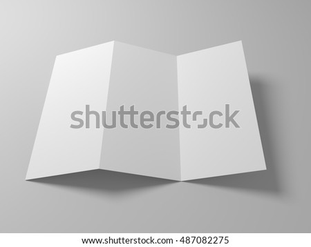 cardboard brochure holder template - paper blank brochure template ready text stock vector