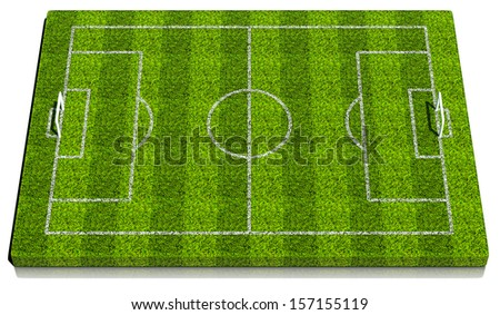 Blank 3d soccer formation plate. Rendered on white background - stock photo
