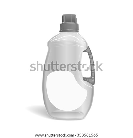 blank detergent bottle isolated on white background