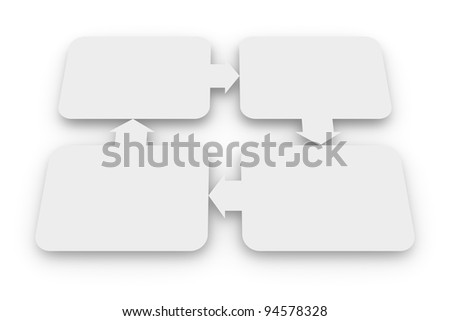 Blank diagram of relationships - stock photo