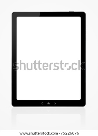 Blank digital PC tablet - stock photo
