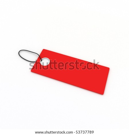Blank Discount Tag - stock photo