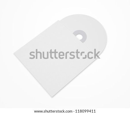 Blank Disk and folder isolated on white / Stationery  Branding objects - stock photo