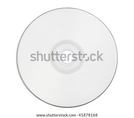 blank disk is on white