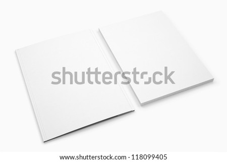 Blank Document and folder isolated on white / Stationery Branding objects - stock photo