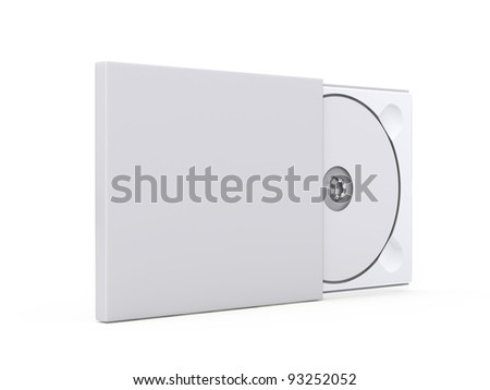 Blank DVD case and disc - stock photo