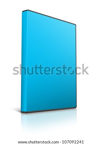 Blank DVD case on white - stock photo