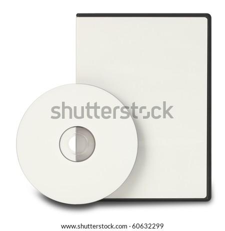 Blank DVD CD Clipping Path - stock photo