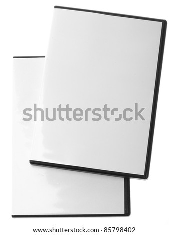 Blank DVD CD Game case isolated on white - stock photo