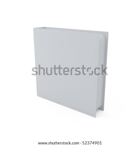 Blank DVD cover isolated on white - 3d illustration - stock photo