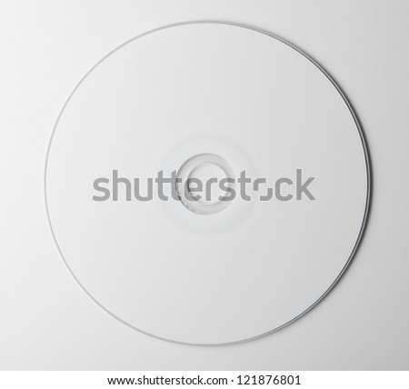 blank dvd disc on white background - stock photo