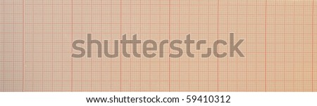 blank ecg Electrocardiogram,EKG - stock photo