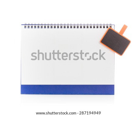Blank, empty desk calendar, isolated on white background.