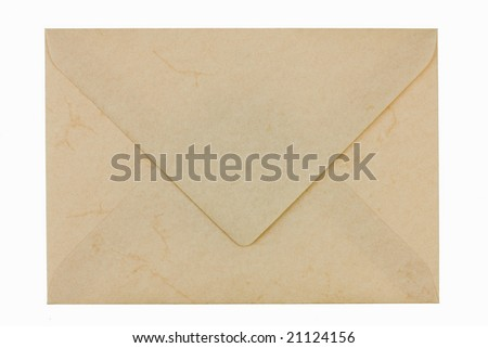 Blank empty envelope from marbled paper