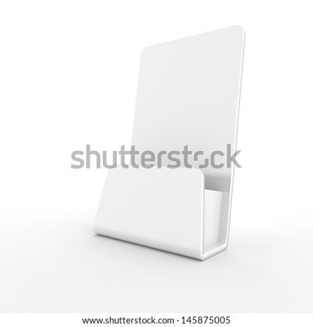 blank empty holder for fliers or leaflets. 3d render - stock photo