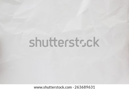 blank empty white crumpled paper background pattern:creased,crinkle of gray tone notation sheet texture backdrop for design,decorate.rough paper parchment wallpaper concept.square plate wall concept. - stock photo