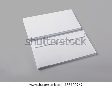 Blank envelopes isolated with soft shadows.  / stationary  / for another blank templates visit my gallery - stock photo