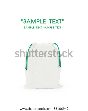 blank Fabric bag isolate - stock photo