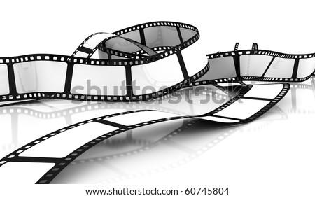 Blank Film - stock photo