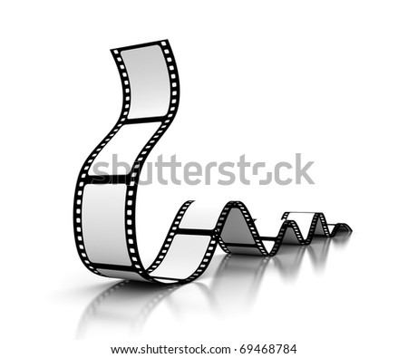 Blank film - stock photo