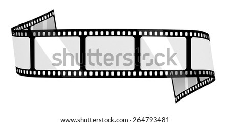 Blank film banner - stock photo