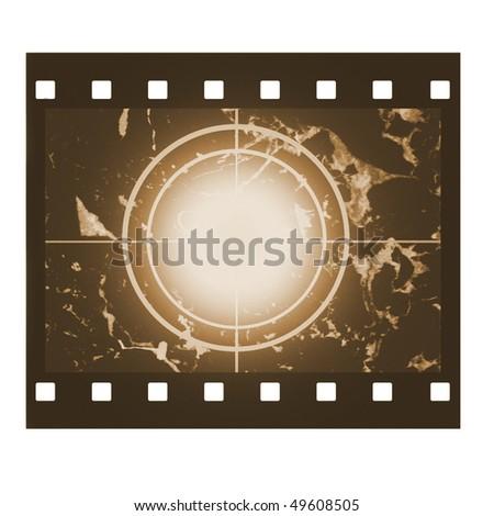 Blank film countdown in sepia design - stock photo