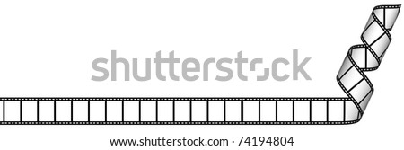 Blank film strip - stock photo