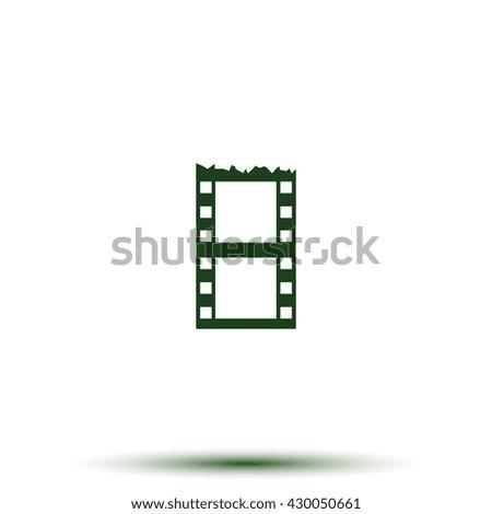 Blank film strip. Celluloid icon. - stock photo