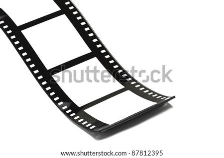 Blank film strip on white - stock photo