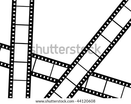 Blank film strips - stock photo